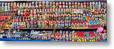 Display Of The Russian Nesting Dolls Metal Print by Panoramic Images