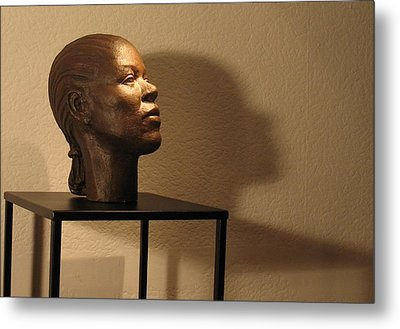 Display Sculpture - 2 Metal Print by Flow Fitzgerald