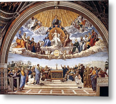 Disputation Of The Eucharist  Metal Print by Raphael