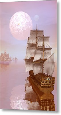 Metal Print featuring the digital art Distant Explorers by Claude McCoy