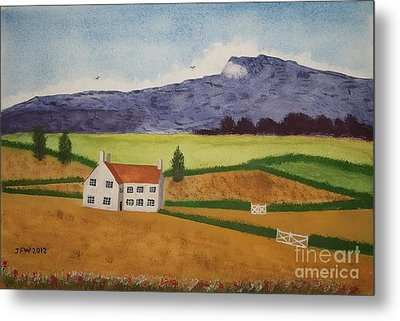Metal Print featuring the painting Distant Hills by John Williams