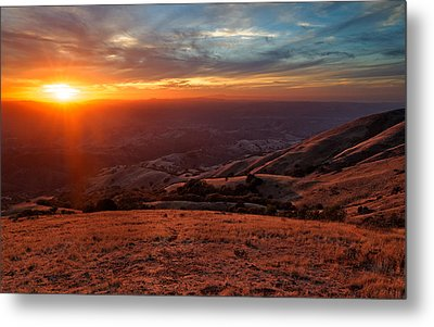 Metal Print featuring the photograph Mount Diablo - Distant by Francesco Emanuele Carucci