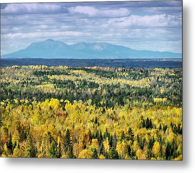 Metal Print featuring the photograph Distant Mountain by Gene Cyr