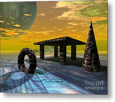 Distant Ranges Metal Print by Asegia