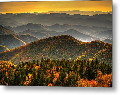 Distant Ridges Metal Print by Serge Skiba