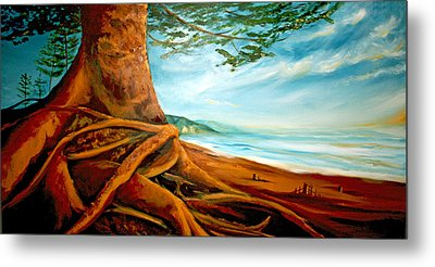 Metal Print featuring the painting Distant Shores Rejoice by Meaghan Troup