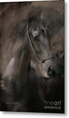 Metal Print featuring the painting Distinguished by Dorota Kudyba