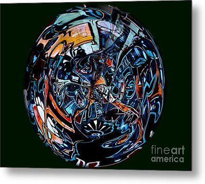 Distorted Earth - No.8345 Metal Print by Joe Finney