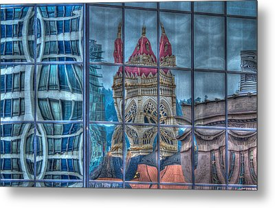 Distorted Portland Metal Print by Jean Noren