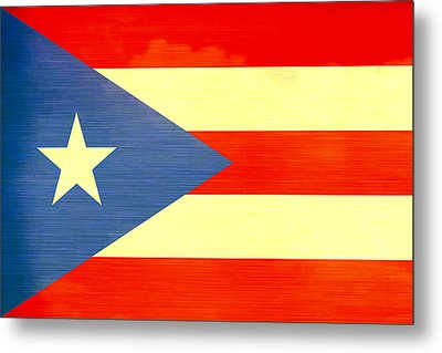 Distressed Puerto Rico Flag Metal Print by Dan Sproul