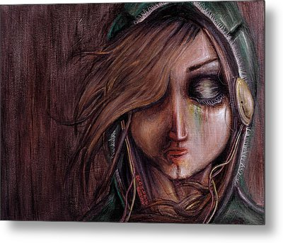 Disturbance Of The Pain-sensitive Structures In My Head Metal Print by Rouble Rust