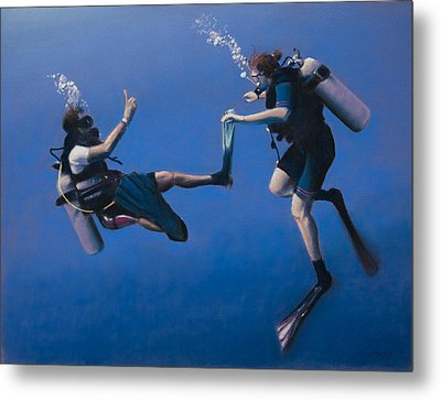 Divers Metal Print by Christopher Reid