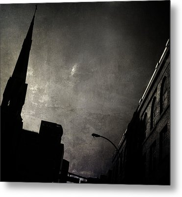 Divided  By Belief  Metal Print by Empty Wall