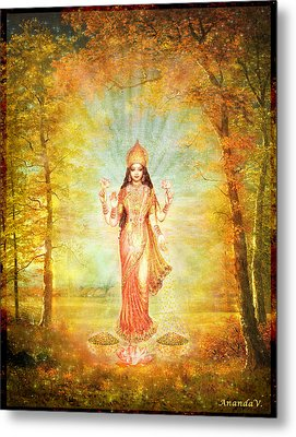 Lakshmi Vision In The Forest  Metal Print by Ananda Vdovic