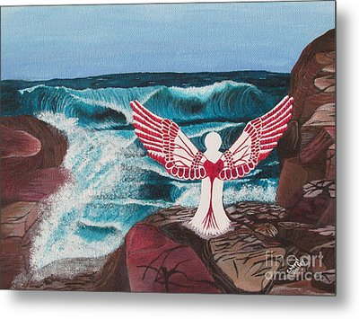 Metal Print featuring the painting Divine Power by Cheryl Bailey