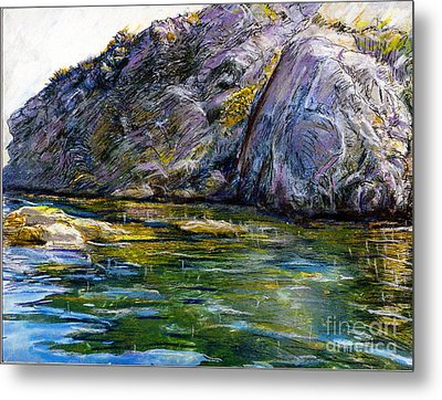 Diving Off Of Lion's Head Catalina Metal Print by Randy Sprout