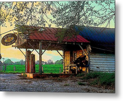 Metal Print featuring the photograph Dixie Oil And Gasoline by Rodney Lee Williams