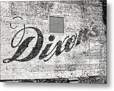 Metal Print featuring the photograph Dixon's Wall Sign by Andy Crawford