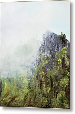 Metal Print featuring the painting Dixville Notch Nh by Michael Daniels