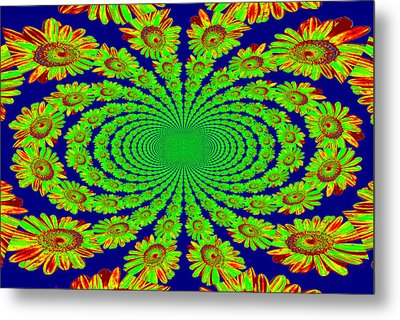 Metal Print featuring the photograph Dizzying Daisies 2 by Kelly Nowak
