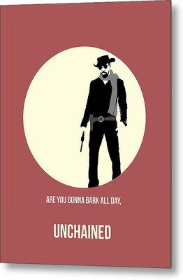 Django Unchained Poster 2 Metal Print by Naxart Studio