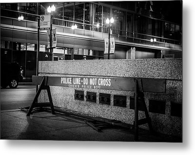 Do Not Cross Metal Print by Melinda Ledsome