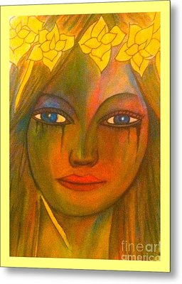 Do Not Cry Painting By Saribelle Rodriguez Metal Print by Saribelle Rodriguez