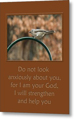 Do Not Look Anxiously About You Metal Print by Denise Beverly