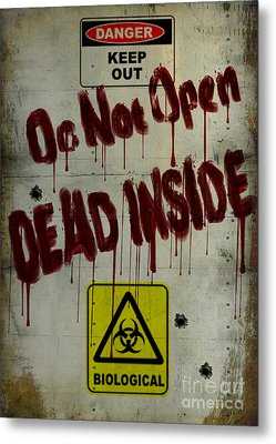 Do Not Open  Metal Print by Cinema Photography