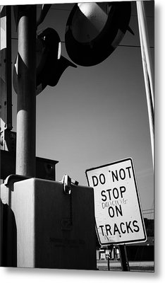 Do Not Stop Dancing On Tracks Metal Print by Jason Politte