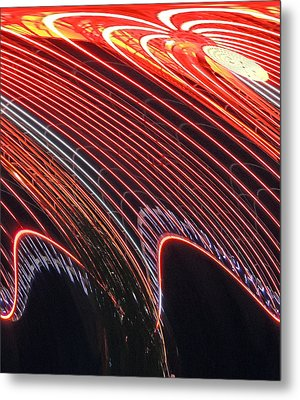 Do The Wave Metal Print by Marian Bell