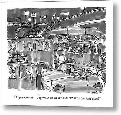Do You Remember Metal Print by Michael Crawford