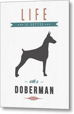 Doberman Pinscher 01 Metal Print
