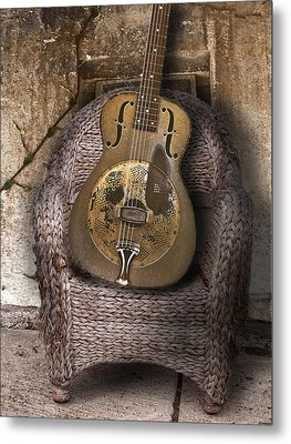 Dobro Guitar Metal Print by Larry Butterworth