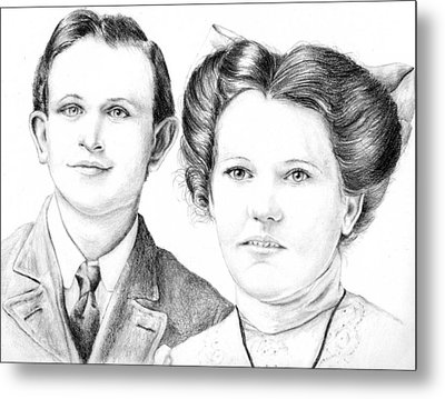 Metal Print featuring the drawing Dobson Wedding  by Mike Ivey