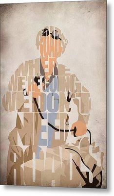 Doc. Brown Metal Print by Ayse Deniz
