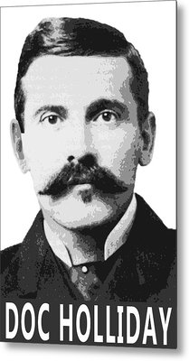 Doc Holliday Of The Old West Metal Print