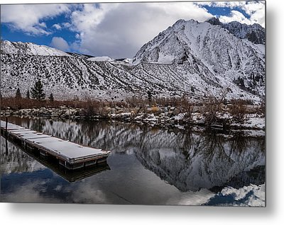Dock At Convict Lake Metal Print by Cat Connor