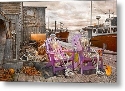 Dock Buddies Metal Print by Betsy Knapp