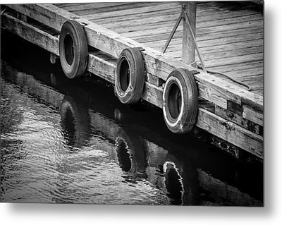 Dock Bumpers Metal Print by Melinda Ledsome