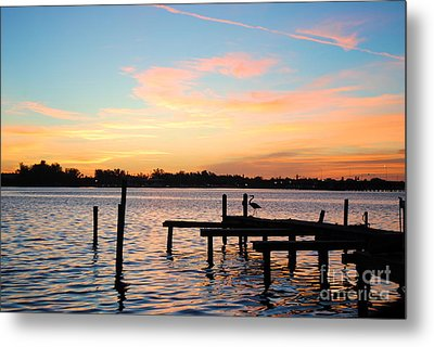 Metal Print featuring the photograph Dock On The Bay by Margie Amberge