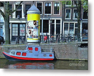 Metal Print featuring the photograph Docked In Amsterdam by Allen Beatty