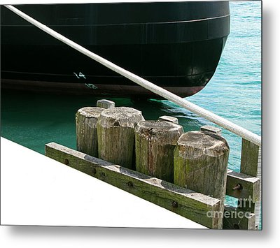 Docked Metal Print by Ann Horn
