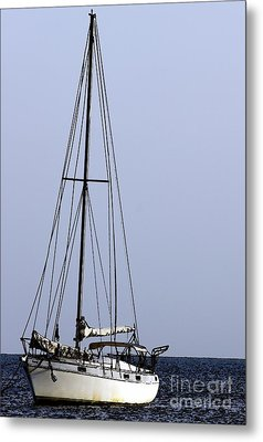 Metal Print featuring the photograph Docked At Bay by Lilliana Mendez