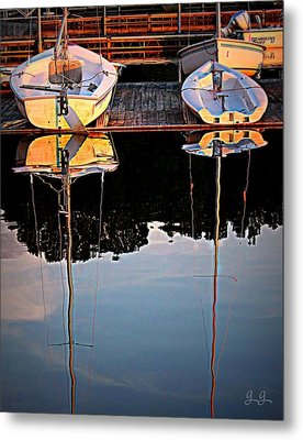 Docked Metal Print by Geri Glavis