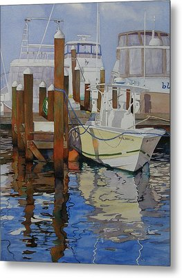 Docked Metal Print by Judy Mercer