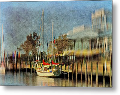 Docked Metal Print by Kathy Jennings