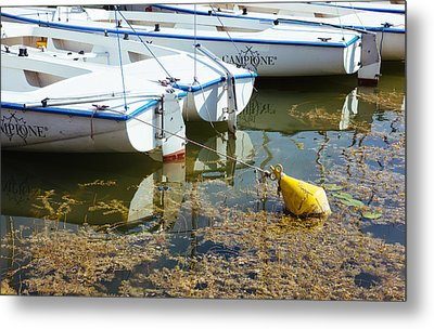 Docked Sailboats Metal Print by Pati Photography