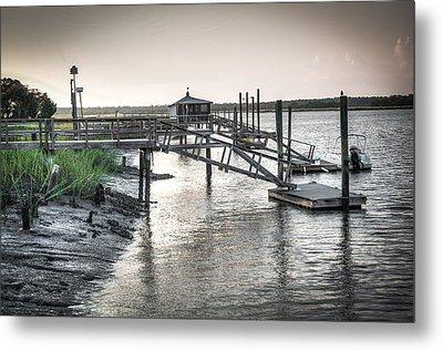 Docks Of The Bull River Metal Print by Scott Hansen