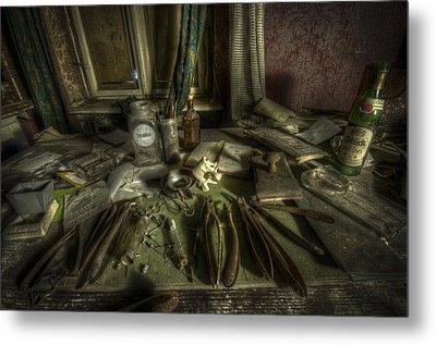 Doctor Death Metal Print